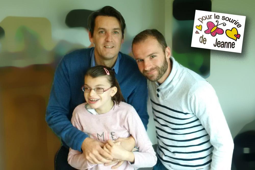 Jeanne, Sébastien son papa (ancien joueur ESL) et Julien