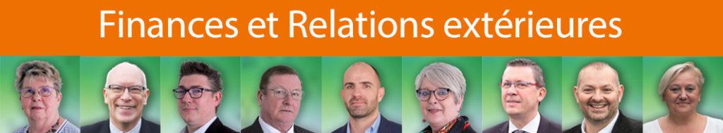 Commission finances, relations extérieures